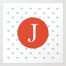 Print for a prince- letter j Art Print