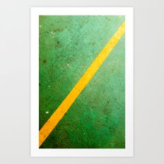 Diagonal Yellow Line Art Print