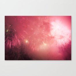 Universe of Fireworks. Canvas Print