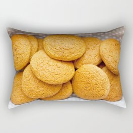 Delicious oatmeal cookies for breakfast Rectangular Pillow