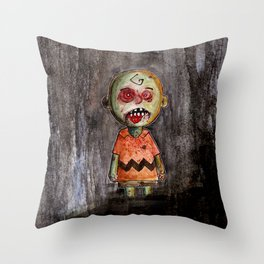 You're a zombie Charlie Brown Throw Pillow