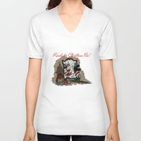 minnie V-neck T-shirts featuring Minnie Mouses by carotoki art and love