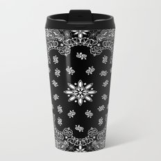 black and white bandana Metal Travel Mug