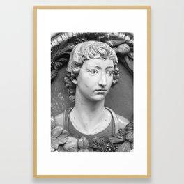Head of a youth , Style of Andrea della Robbia (Italian, 1435–1525)1 Framed Art Print