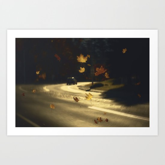 Autumn shower! Take me with you away from a dreadful winter! Art Print