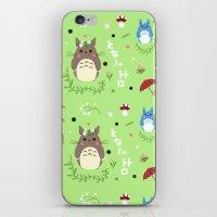 ghibli iPhone & iPod Skins featuring Ghibli pattern by Sophie Eves