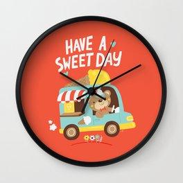 Ice Cream Bear Wall Clock