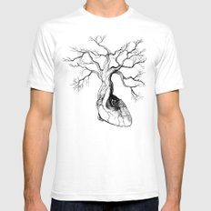 Love root White SMALL Mens Fitted Tee