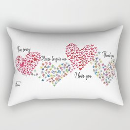 The Hearts and The Butterflies Rectangular Pillow