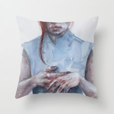 giving away my hands Throw Pillow
