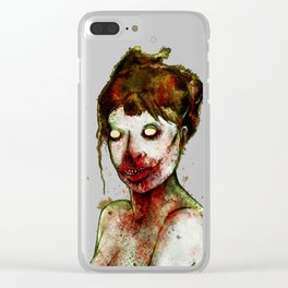 BRAAAINS BEFORE BEAUTY Clear iPhone Case