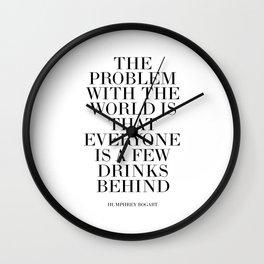 Humphrey Bogart,Inspirational Quote,Motivational Poster,Bar Decor,Quote Prints,Typography Print Wall Clock