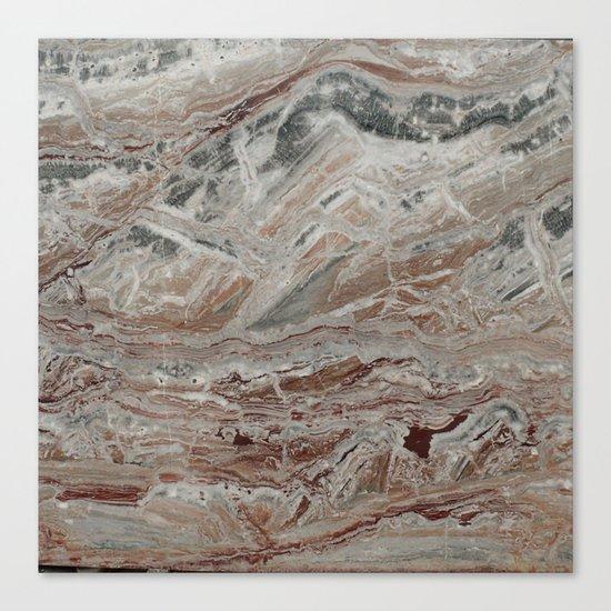 Arabescato-Orobico Fine Marble Canvas Print