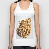 peanuts Tank Tops featuring Salted Peanuts by Steve P Outram