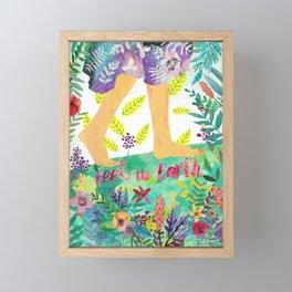 Feel the Earth Framed Mini Art Print