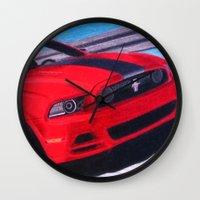 boss Wall Clocks featuring Boss by Brian David