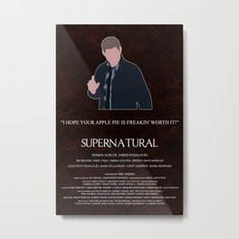 Supernatural - Dean Winchester Metal Print