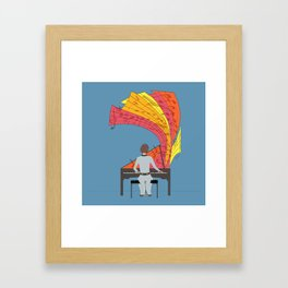 The joy of piano playing Framed Art Print