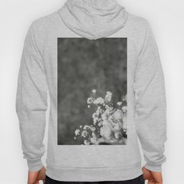 Black and white florals Hoody