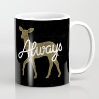 snape Mugs featuring Always by WEAREYAWN