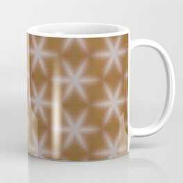 Shiny wood texture snowflake stars pattern 1 Coffee Mug