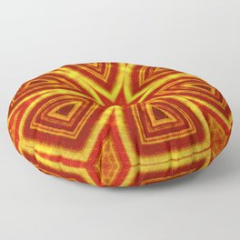 red and gold kaleidoscope Floor Pillow