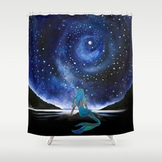 MERMAID STARRY NIGHT Shower Curtain
