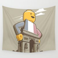 leon Wall Tapestries featuring L'Arc de Trouser by Leon Ryan