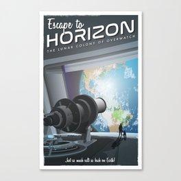Horizon Lunary Colony Travel Poster Canvas Print