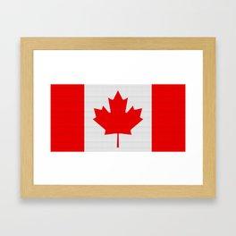Canada Flag (Patchwork) Framed Art Print
