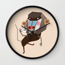 Baboon & Coffee Wall Clock