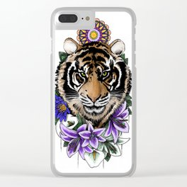 Tiger & Lily Clear iPhone Case