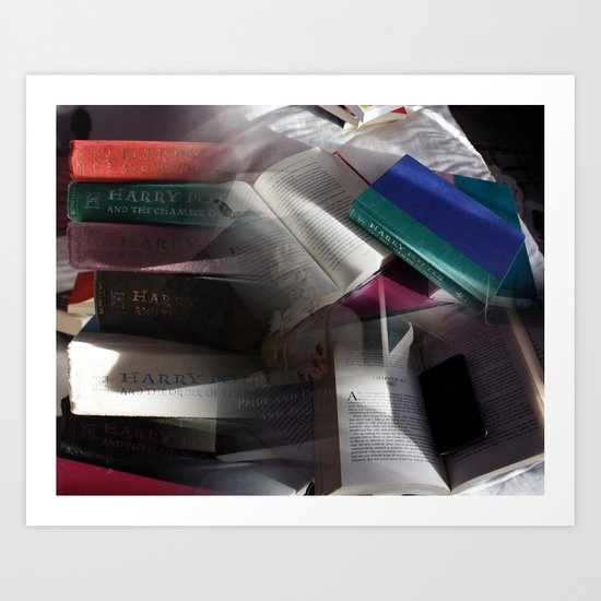 Book collage Art Print