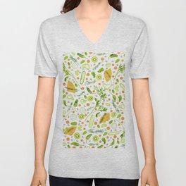 Fruits and vegetables pattern (20) Unisex V-Neck