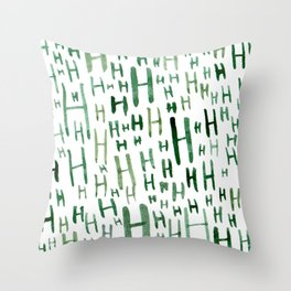Painted H Throw Pillow