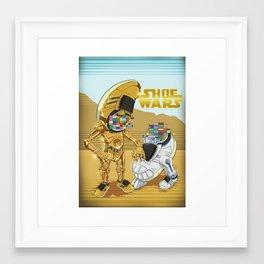 ShoeWars : C-3PO & R2-D2 Framed Art Print