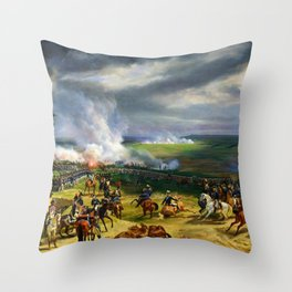 12,000pixel-500dpi - Horace Vernet - Battle Of Valmy - Digital Remastered Edition Throw Pillow