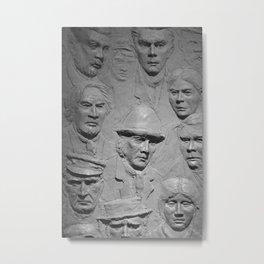 Faces bw Metal Print