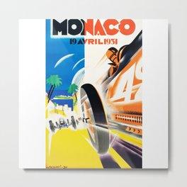 Grand Prix Monaco, 1931, vintage poster Metal Print