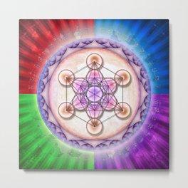 Metatron's Cube - Sun II Metal Print