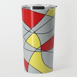 Lines Red Yellow Travel Mug