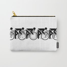 The Bicycle Race 2 Black On White Border Carry-All Pouch