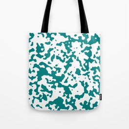 Spots - White and Dark Cyan Tote Bag