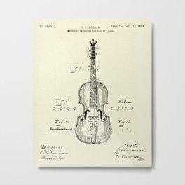 Method of Improving the Tone of Violins-1888 Metal Print