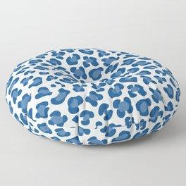 Leopard Print - Classic Blue - Light Floor Pillow