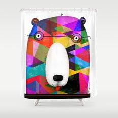 BEAR SPECTACLES Shower Curtain
