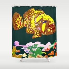 Giant Grouper Fish Shower Curtain