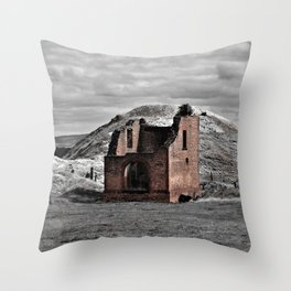 Berry No. 1 Mine Pump House Throw Pillow