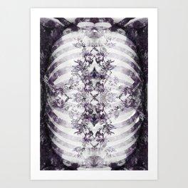 Floral Abstract Ribcage Art Print
