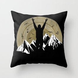 Nature Is A DJ Throw Pillow